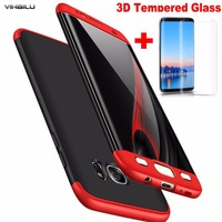 For Samsung Galaxy Note 8 Ultra Thin 360 Full Body Case 3D Curved Full Cover Tempered
