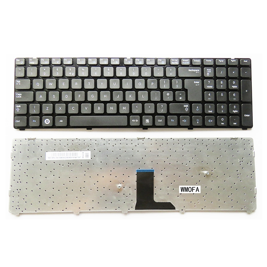 New High quanlity For SAMSUNG  R780 R590 R590E R578 E852  black  Laptop Keyboard UK Layout