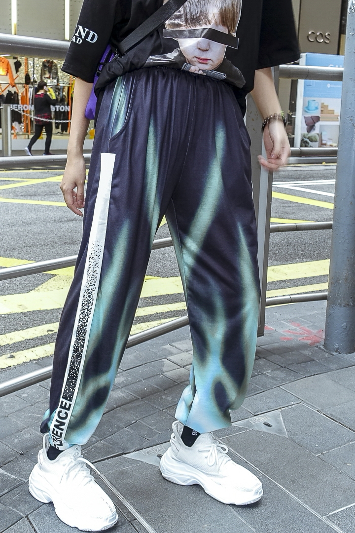 Conique Harajuku Pantalon Hip Tissu Occasionnel Lettre Hop Bf Contraignant Rue Hiphop wUEPpWqa