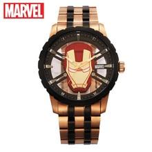 Disney official original Marve the Avengers Iron Men quartz watch Waterproof  Male Full stainless Steel Luxury Watch m-9030 new