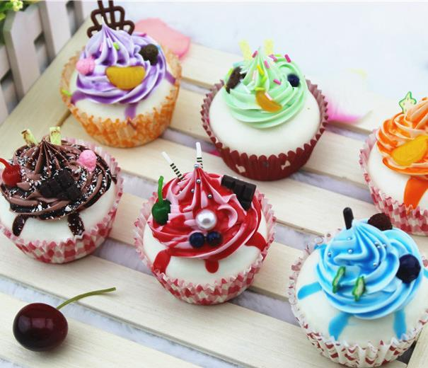 Kawaii Squishies Cake 7cm Pu Expression Cupcakes Rare Squishy Bread