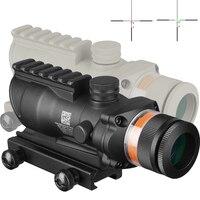 Охотничий Прицел ACOG 4X32 Rail оптика красный зеленый Dot Cross IlluminatedGlass Etched сетка тактический оптический прицел
