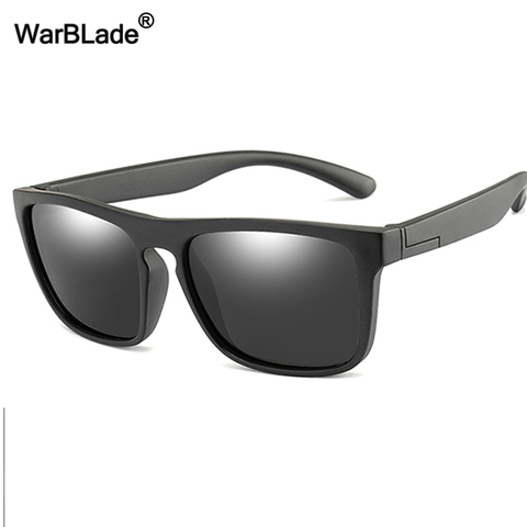 WarBlade 2019 New Kids Silica Soft Sunglasses Polarizing Square Boys Girls Brand Eyeglasses Infant UV400 Breakproof Sunglasses Karachi