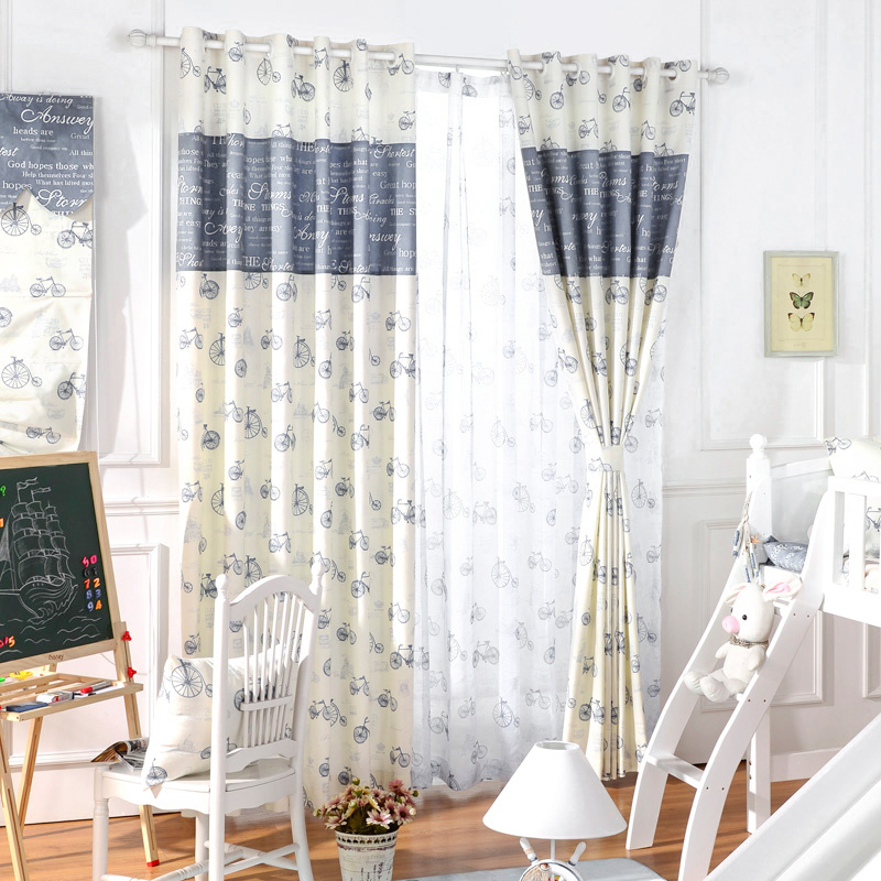 Blackout curtain mediterranean window drapes custom thread for Living room curtain fabric
