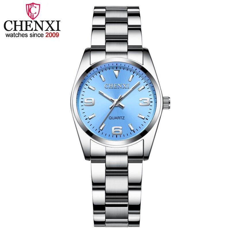 2018 CHENXI Marke Mode Uhren Frauen Luxus edelstahl Armbanduhren Analog Quarz Uhr Uhr frauen Relogio Feminino