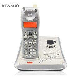 Inglês telefone sem fio digital com id chamada sistema de resposta backlit telefone fixo para escritório bussiness casa