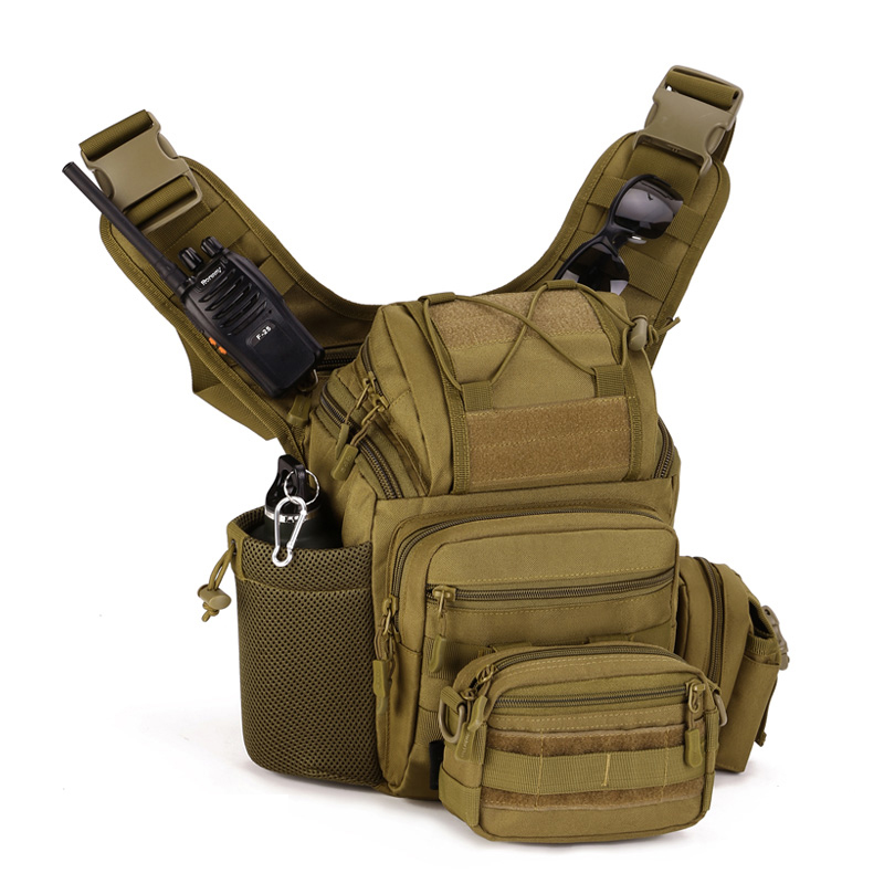 Multifunction Shoulder Outdoor Photography SLR Camera Bag Tactical Saddle Bag Waterproof Camouflage Army Bag For Hiking SHK306