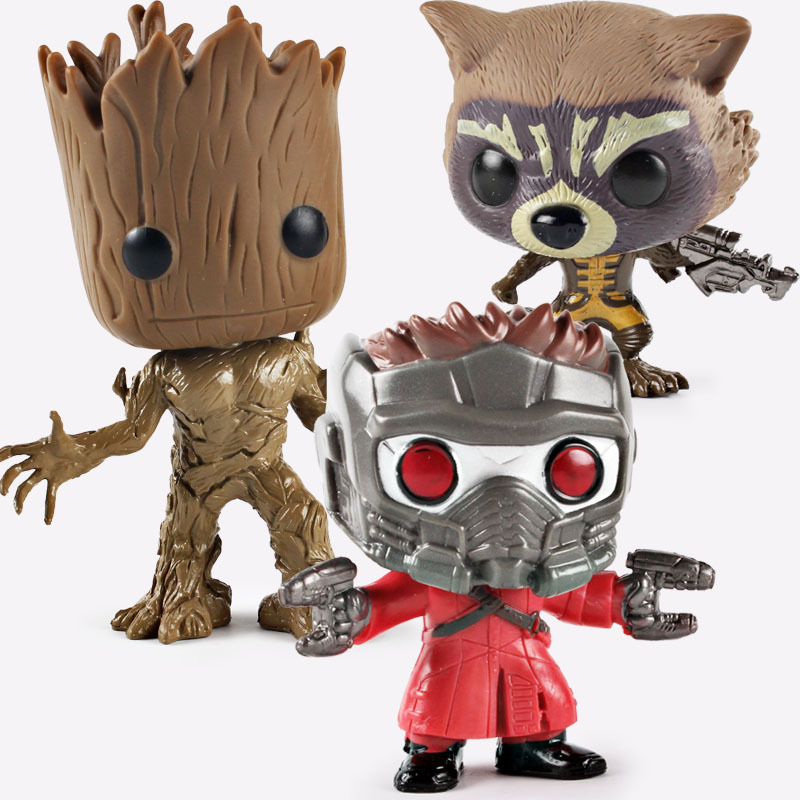Guardians of the Galaxy 2 Characters VINYL Kawaii 10cm Action Figure Toys Peter Jason Quill Christmas gift