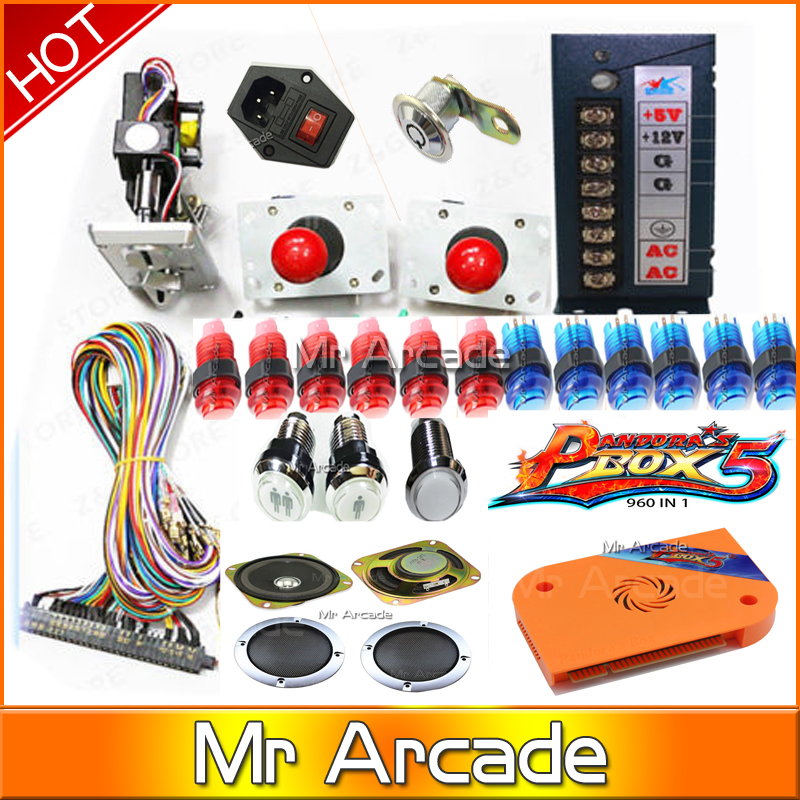 960 in 1 Jamma Arcade bundles/ kit only for HDMI/VGA Output arcade accessories For led Arcade bartop/cabinet Pandora's Box 5 original pandora box 4s plus 815 in 1 jamma harness arcade game cartridge jamma multi game board with vga and hdmi output