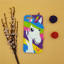 New 3D Cartoon Rainbow Unicorn Case Soft Silicon White Horse Cover for Apple iPhone SE 5 5S 5C 6 6S 7 7S & Plus Rubber Shell