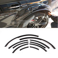 PU Q7 Wheel Arch Eyebrow Stripe Car Wheel  Modling Trims For Audi Q7 2006-2014