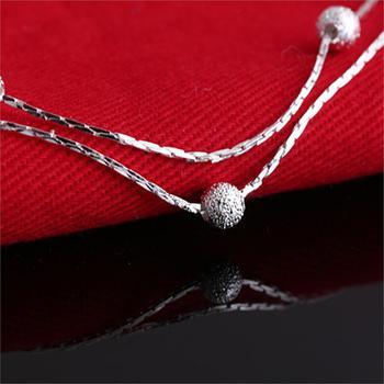 Jiayiqi 2017 Hot Sale Silver color Fashion Bracelet Bead Bracelets for Women Silver color Friendship Bracelets Fine Jewelry 3