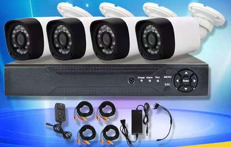 Système de vidéosurveillance 4CH 1080N HDMI DVR 4 pièces 1080 P IR caméra extérieure maison AHD système de sécurité Kits de Surveillance alerte par courriel