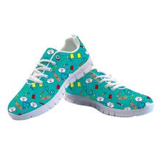 ELVISWORDS Women Flats Sneakers Shoes Cartoon Mouse Teens Girls Cute Shoes Female Student Lace-up Comfortable Zapatos Mujer 2019