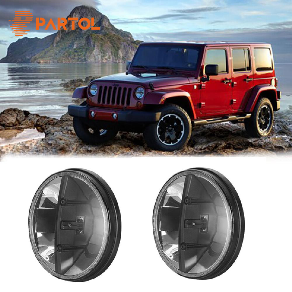 Partol 2PCS 20W 7 INCH LED Round Car Day time running light Driving Fog lamps offroad headlight FOR Jeep Wrangler JK LED Bulbs