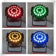 (30/lot)Dj par lights led flat par can 24x15w rgbwa 5in1 led par spot light dmx par64