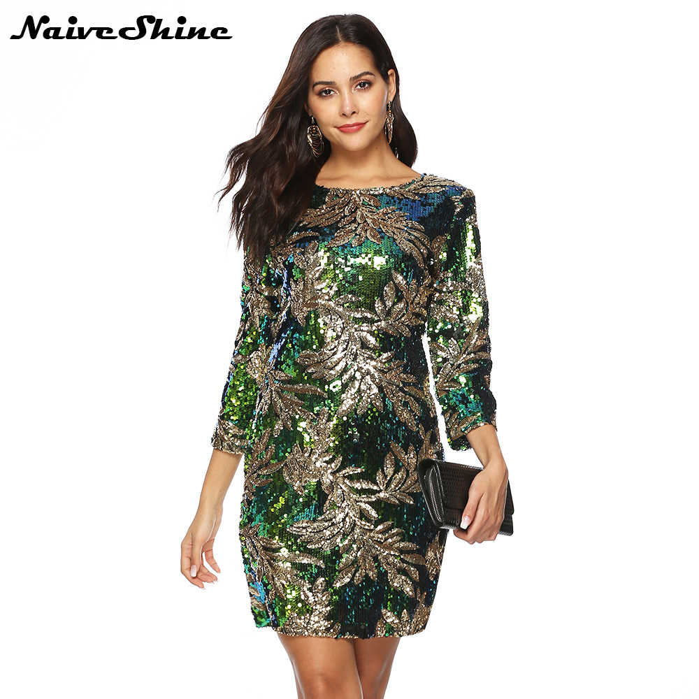35e87327fc744 2018 New Arrival Autumn Winter Sexy Backless Sleeveless Sequin Dress ...