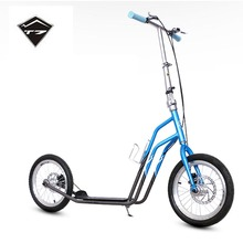 T7 16 Inch Rubber Tyre Adults Scooter With Carbon Steel Frame Hand Safe Disk Brake City Scooter