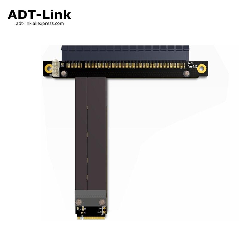 M2 M.2 NGFF NVMe M-key To PCI-e x16 Riser Card Gen3.0 Cable 32G/bps PCI Express PCIe 16x Extension Key M 2230 2242 2260 2280 pci e pci express 3 0 x4 to nvme m 2 m key ngff ssd pcie m2 riser card adapter for desktop samsung sm951 2230 2242 2260 2280 m 2