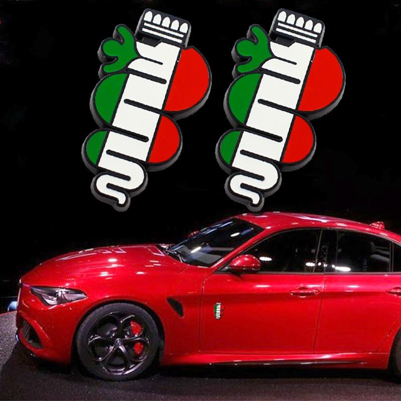 Car Side Emblem Front Grille Badge Car Rear Trunk Logo Sticker,For Alfa Romeo Giulietta Giulia Mito GT 147 156 159 166 166 Stelvio