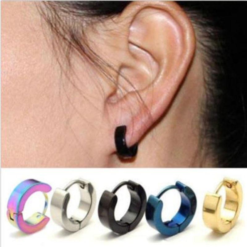 1 Pair Unique Cool Mens Stainless Steel Hoop Piercing Ear Earring Studs Jewelry In Stud Earrings From Accessories On Aliexpress Alibaba
