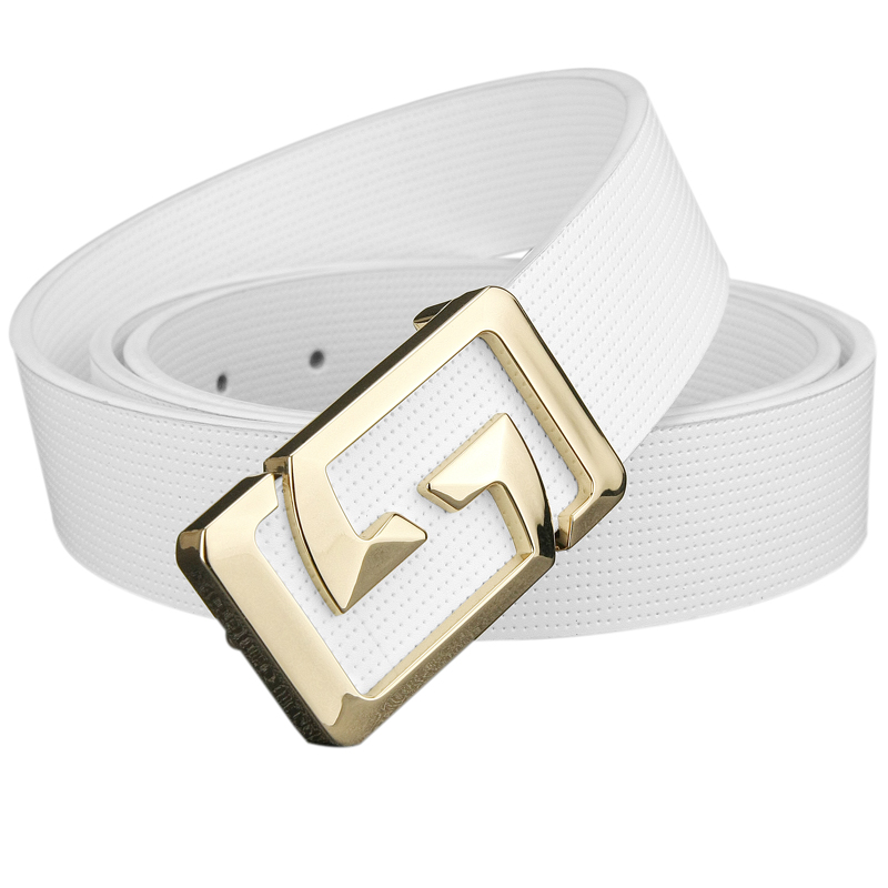 luxury Golden buckle White belts men Strap Boy Casual Waistband High Quality genuine leather designer belt double G Letter homme