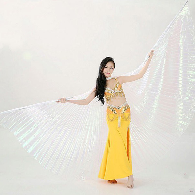Hot Women Belly Dance Isis Wings Oriental Design New Wings without Sticks 9 COLOR HOT SALE Without Sticks