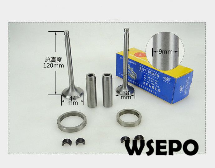 OEM Quality! Valve/Seat/Guide/Clip 04 pc kit for ZS1105 4 Stroke Small Water Cooled Diesel Engine oem quality cylinder sleeve liner piston kit 06 pc kit for direct injection zs1105 4 stroke small water cooled diesel engine