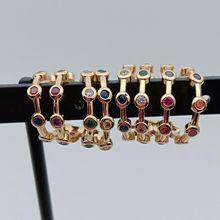 Fahsion Симпатичные буксировочные линии инкрустированный цирконами ушные манжеты серьги с золотым покрытием серьги