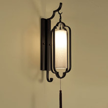 Chinese minimalist wall lamp living room bra modern bedroom store bedside lighting aisle hotel background wall sconce fixture недорого