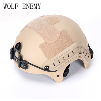 OUTDOOR DECORATIVE PATTERN CS HELMET WITH NVG MOUNT & SIDE RAIL Cycling Helmet