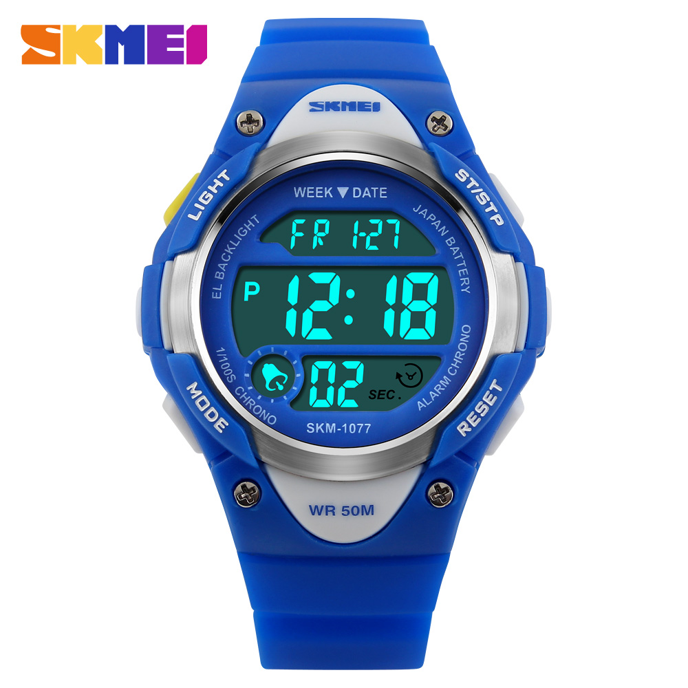 Skmei children 39 s watches alarm stopwatch waterproof swimming led digital watch for boy girls for Under water watches