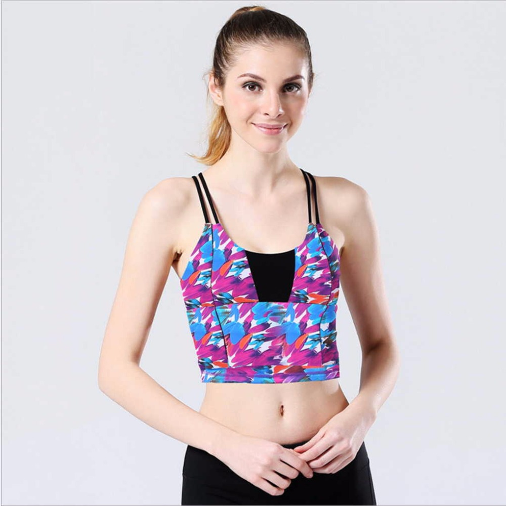 Brand New Femei Profesie Yoga Shirt Shake Proof Padded Gym Fitness - Imbracaminte sport si accesorii