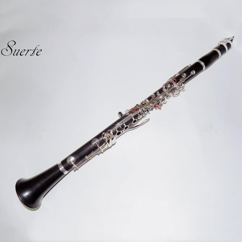 Bb Ébène Clarinette instruments Musicaux Professionnels 17 touches Clarinete Italie Tapis avec ABS Cas Gants Roseau