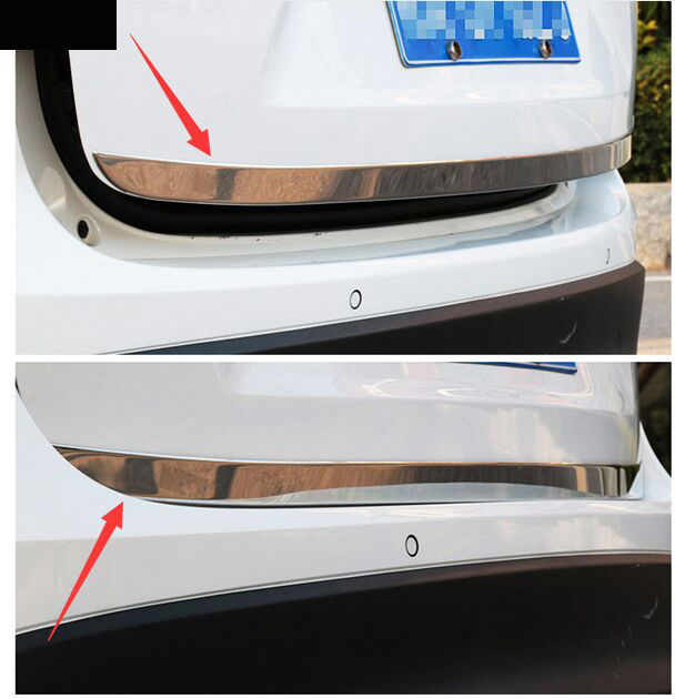 FITS FORD ESCAPE 2013-2016 STAINLESS CHROME TRUNK TAILGATE MOLDING 2PCS