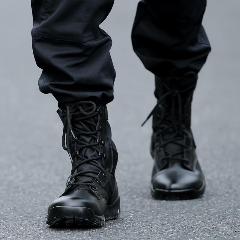 Lightweight Military Black Boots Men