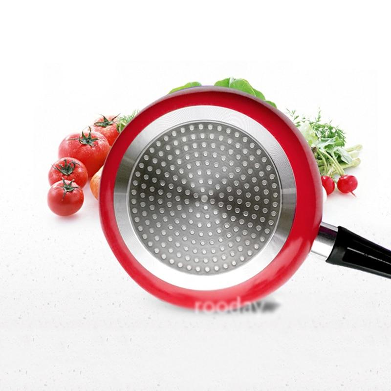 Poêle en aluminium cuisine Panela friteuse 20/24/28 cm coloré oeufs grilles & casseroles pour cuisinière à gaz plaque de cuisson antiadhésive en cuivre