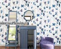 beibehang Nordic wallpaper nonwovens pure paper butterfly flying papel de parede wall paper living room sofa bedroom background