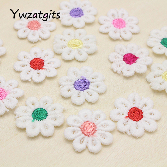 Venta! 25mm parche de patrón de flores coser parches bordados ...