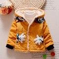 2016 Hot Mickey chaqueta de algodón bebé niños y niñas sudaderas con capucha calientes sport coat niño grueso abrigo de invierno abrigo rojo verde amarillo claro