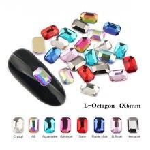 Горячая Распродажа маленький re восьмиугольник 4x6 мм ногтей