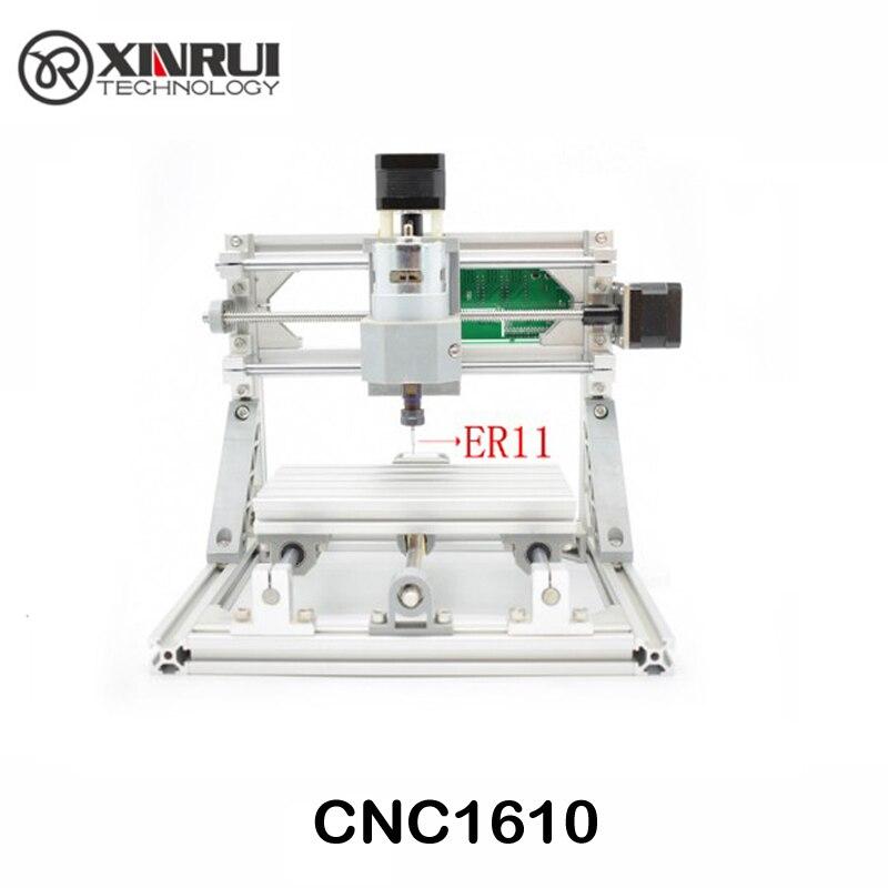 Controllo GRBL Fai Da Te mini CNC macchina laser CNC 1610 ER11, area di lavoro 16x10x4.5 cm, 3 Assi pcb pvc fresatrice, router di legno