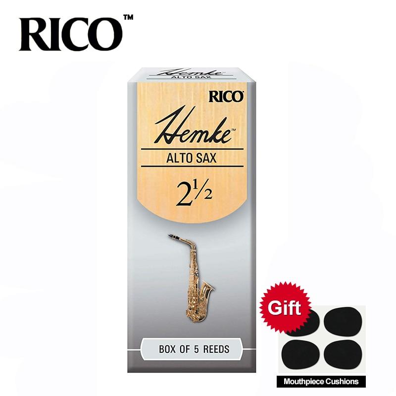 RICO Hemke Alto Sax Reeds / Saksofon Alto Eb Reeds Moč 2.5 #, 3 # Škatla s 5