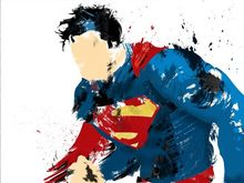 Free Shipping Superman Canvas Oil Paintings on Canvas Wall Art Decoration Paintings Home Decor Artwork XJDP-68 цена и фото