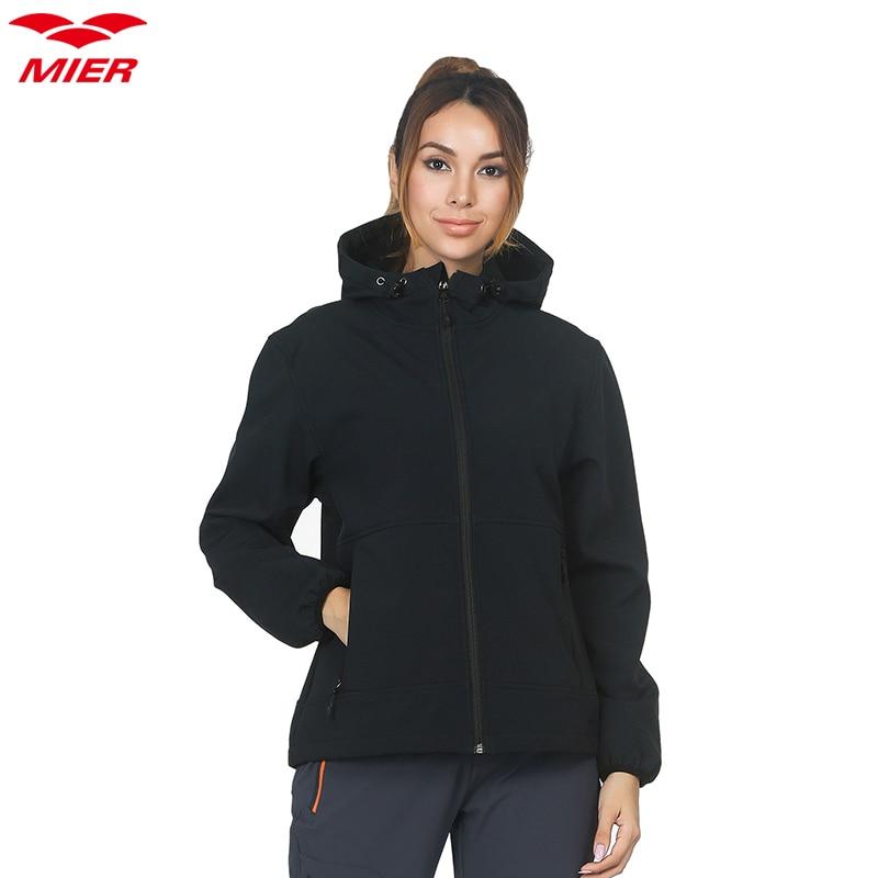 Windproof Fleece Men Ladies Hooded Breathable Water Resistant Softshell Jacket