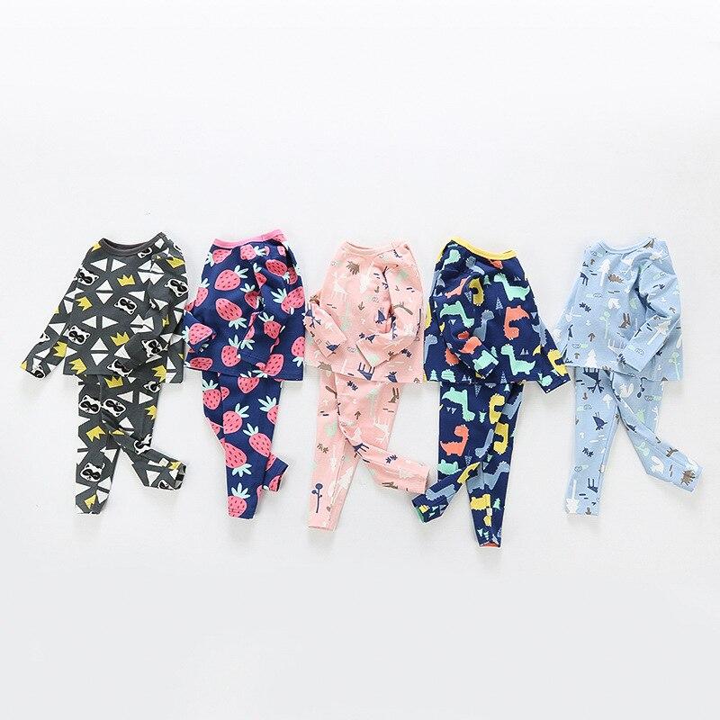 40325183 2019 новые весенние лайкра нижнее белье для маленьких мальчиков девочек  хлопковые пижамы набор детей Костюмы осень