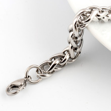 wholesale silver color bracelet  Titanium Steel link Chain Bracelet For Men