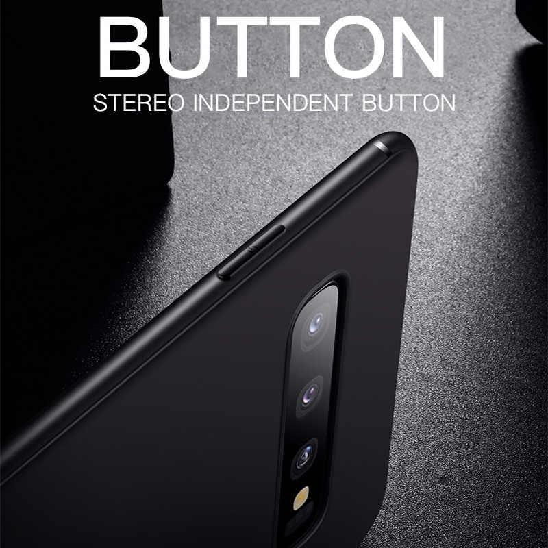 Ультра тонкий матовый чехол для телефона для samsung Galaxy S10 E S8 S9 плюс J3 J5 J7 J4 J6 плюс J8 2019 2017 2016 чехол-накладка из мягкого силикона ТПУ с крышкой