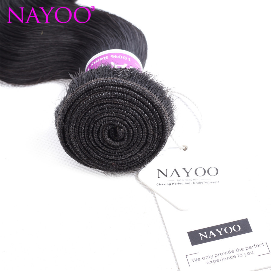 NAYOO Πακέτα ανθρώπινων μαλλιών σώματος - Ανθρώπινα μαλλιά (για μαύρο) - Φωτογραφία 3
