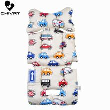 Stroller Cushion Seat Cover Baby Diaper Cartoon Flamingo Pad Cotton Mat Mattress Pram Accessories